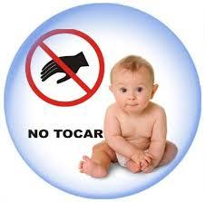 no tocar bebe
